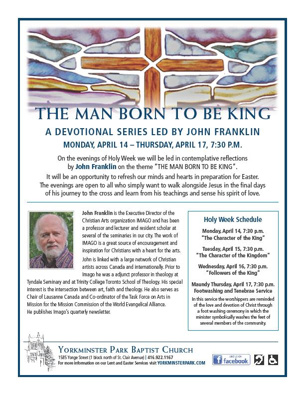 EVENT - The Man Born to Be King