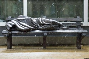Jesus the Homeless Sculpture